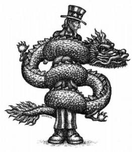 China's Stranglehold on the U.S. economy. (c) Kevin Kreneck