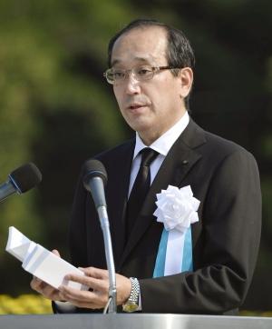 Hiroshima's Mayor Kazumi Matsui in 2015 Photo: Kyodo News/Associated Press