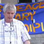 Glenn Michalchuk, speaking at the Sept. 6, 2013 Rally for Peace in Syria in Winnipeg. Photo: Paul S. Graham