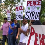Winnipeg, Sept. 7: Winnipeggers demonstrate for peace in Syria. Photo: Paul S. Graham