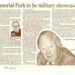 Winnipeg Free Press, Feb. 14, 2008: Memorial Park to be a military showcase