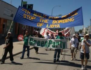 June 18. 2011: Some of the participants in the 30th Annual Winnipeg Walk for Peace. Photo: Glenn Michalchuk
